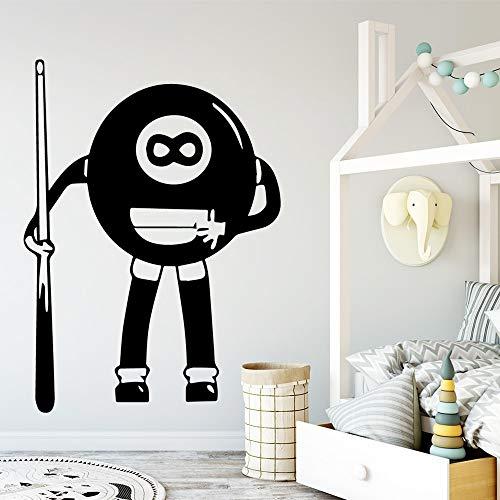 wZUN Lustige Billardtisch Wandkunst Aufkleber Wandtattoo kreative Aufkleber 36x49cm