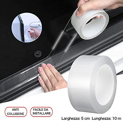 XINCHEN Pellicola Protettiva per Vernice Trasparente Autoadesiva Pellicola Protettiva AntiGraffio per Auto Pellicola Autoadesiva Adesiva Sottoporta Auto (5 * 10)