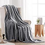 Fleece Throw Blankets Velvet Throws Utra Soft Lightweight Decor for Couch, Bed, Plush Fuzzy Flannel Microfiber Warm Thermal Blanket All Seasons(Dark Grey, 50x60)