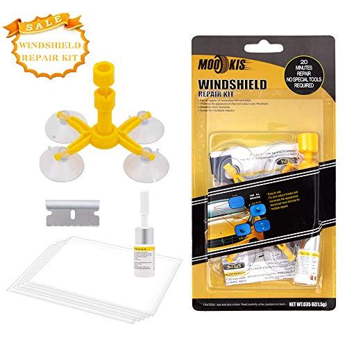 Mookis Windschutzscheibenwerkzeug Reparaturset für Windschutzscheiben Windschutzscheiben Reparatur Set Windshield Repair Kit gegen Steinschlag und Kuhaugen