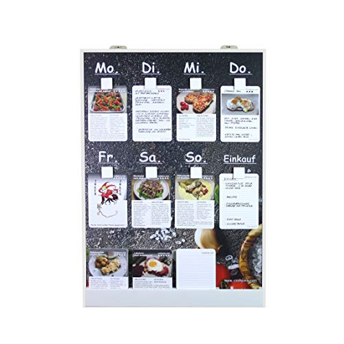 Rogge´s RelaxGrill Speiseplan CookPins D2 mit 125 Rezeptkarten, wandhängend, Essensplaner, Menütafel, Essensplan, Rezeptkarten, Kochrezepte, Rezepttafel, Kochtafel, Kochbuch, Dekoration Küche