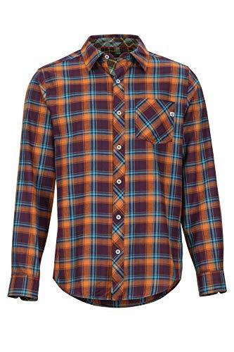 Marmot Herren Anderson Lightweight Flannel Langärmliges Outdoor-Hemd, Wander-Shirt Mit Uv-Schutz, Atmungsaktiv, Fig, L