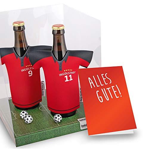 Der Trikotkühler | Das Männergeschenk für Ingolstadt-Fans | Langlebige Geschenkidee Ehe-Mann Freund Vater Geburtstag | Bier-Flaschenkühler by Ligakakao