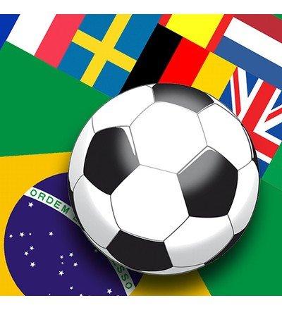 Duni WM 2014 Zelltuch Servietten / Napkins Fußball Flaggen