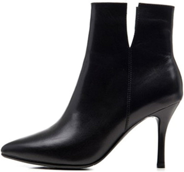 Nio Sju äkta läderskor, kvinnors spetsiga tå Stiletto Stiletto Stiletto Heel Basic Handgjort Söta Smidiga skor  välkommen att välja