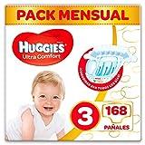Huggies Ultra Comfort Pañales Talla 3 (4-9 Kg) - 168 Pañales