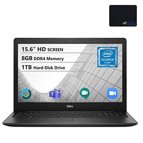 Dell Inspiron 15.6' HD Laptop, Intel 4205U Processor, 8GB DDR4 RAM, 1TB HDD, Online Class Ready, Webcam, WiFi, HDMI, Bluetooth, KKE Mousepad, Win10 Home, Black