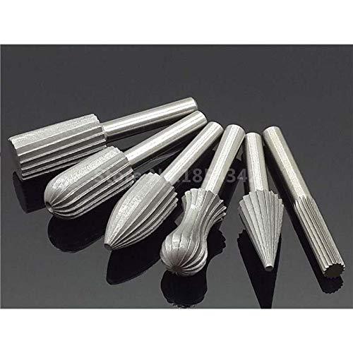Maslin 6 Stks Set Lager Staal Carbide Burr frees 6mm Schacht Dremel Roterende Gereedschap Elektrische Slijpen Metalen Graver Gereedschap Accessoires