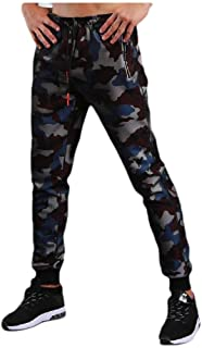 Mens Pocket Skinny Closed-Bottom Quick Dry Multicamo Sweatpant