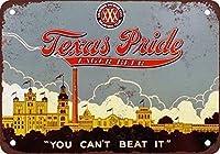 テキサスプライド金属ブリキ看板ホーム装飾壁アート