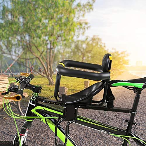 Asiento De Bicicleta Para NiñOs 30 Kg Bicicleta De Seguridad Para NiñOs Asiento De Bicicleta Ajustable Para NiñOs Silla De Seguridad Para NiñOs Con Soporte De Pedal Para NiñOs De 1 A 6 AñOs black