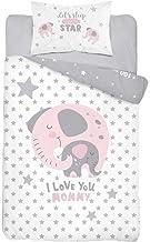 Picnic Time Rosa M/ädchen Kinderbettw/äsche 100x135 Bettgarnitur Baby Bettw/äsche 2 tlg Bettset 100/% Baumwolle