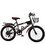 YUCHEN- Bicicletas Jóvenes Bicicleta Masculino y femenino Pedal Bicicletas Middle School Elementary Road Bike 20/18 pulgadas Velocidad variable  u200b  u200bildren Bicicleta de montaña (Color: Rojo,