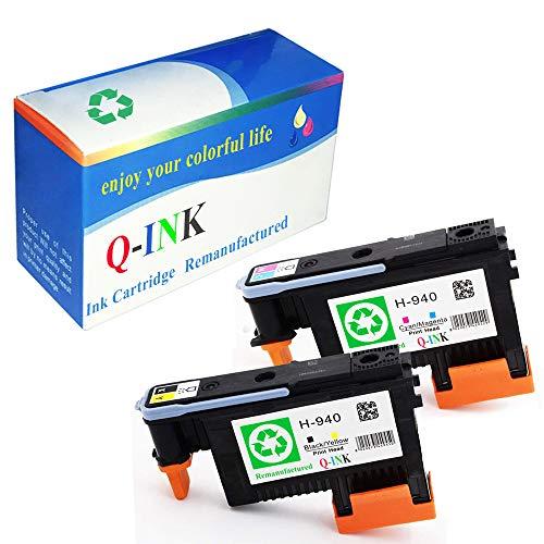 QINK Combo Set 2PK for 940 Printhead Long-Life Premium BK/Y C4900A C/M C4901A (Printhead 2PK: BK/Y C/M)