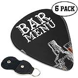Template Bar Menü Alkohol Trinkflasche Cute Picks Guitar Best Guitar Picks 6er Pack