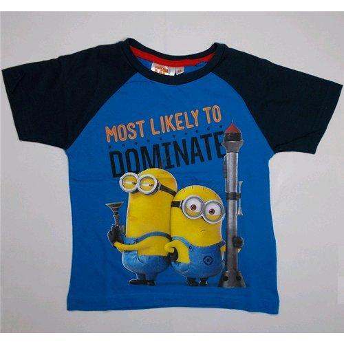 T-shirt t-shirt moi moche et méchant d'été Enfant Disney 4 Ans – oe1719/1 bleu clair