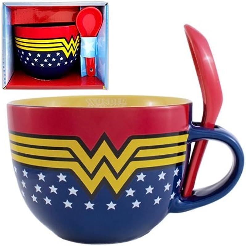 Wonder Woman Soup Mug With Spoon