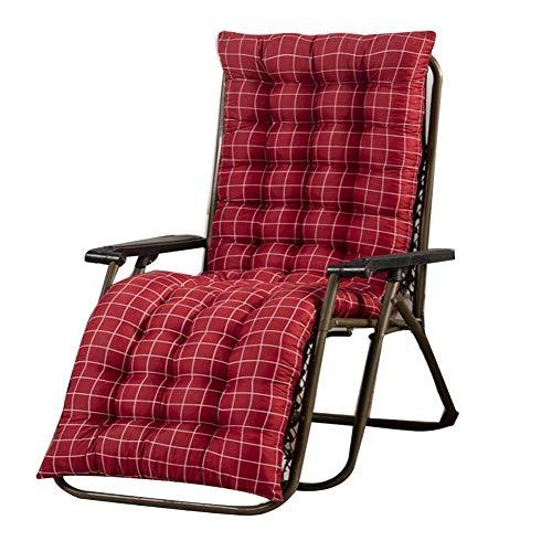 JBNJV Cojines para sillas, cojín para tumbonas, Chaise Longue Suave, Repuesto para Muebles de jardín, cojín reclinable para Patio Interior y Exterior (Solo cojín)