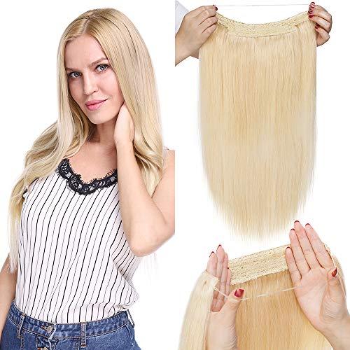 TESS Haarteile Echthaar Extensions 1 Tresse Doppelt Dicke Draht komplette Haarverlängerung guenstig Haar Extensions Glatt 22
