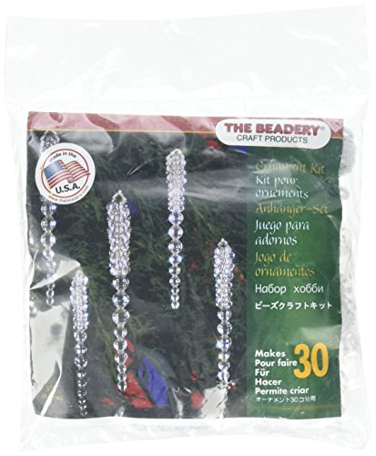 Beadery Holiday Beaded Ornament Kit Sparkling Icicles 3.75-inch Makes 30