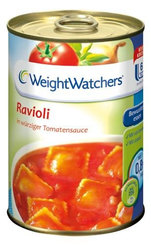 Weight Watchers Ravioli in Tomatensauce, 3er Pack (3 x 400 g Dose)