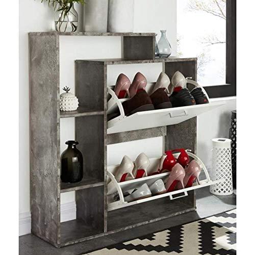 Gabinete de madera maciza de bambú para el vestíbulo, simple para el hogar, balcón, sala de estar, gabinete de almacenamiento multifunción, zapatero blanco, Australia
