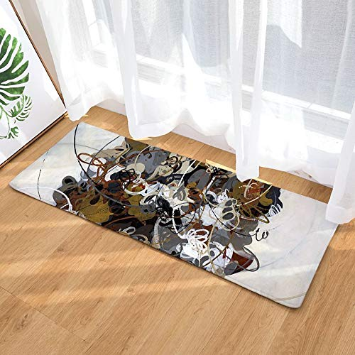 Tappetino da Cucina Modern Ink Oils Pittura Style Tappetino Tappetino Antiscivolo Assorbire Acqua Zerbino Camera da Letto Bagno Tappetino d'ingresso A13 40x120cm