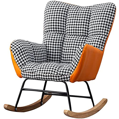 Silla mecedora, sofá perezoso Moderno Houndstooth + Silla d