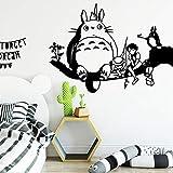 pegatina de pared 3d etiqueta de la pared Dibujos animados lindos totoro vinilo etiqueta de la pared decoración de la casa Stikers para niños habitaciones de los niños a prueba de agua