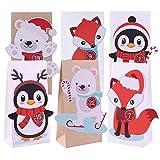 The Spirit Store DIY Adventskalender zum Befüllen für Kinder | Bastel-Set mit Papiertüten Groß...