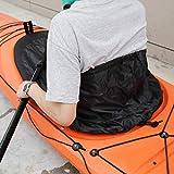 Andraw ●Cadeau de Noël Jupe de pulvérisation de Pont en Tissu en Nylon d'accessoires de Kayak M/L Noir, Protecteur de Blocage de Pont de Joint, canoë pour kayakistes(98 * 60 (Small))