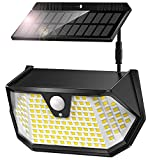 Cocoda Luces LED Solares para Exteriores, [Panel Solar Separable] 137LEDs Luz Solar Exterior con Sensor Movimiento, 3 Modos y 270°Iluminación, IP65 Impermeable, Foco Solar Jardin para Patio, Garaje