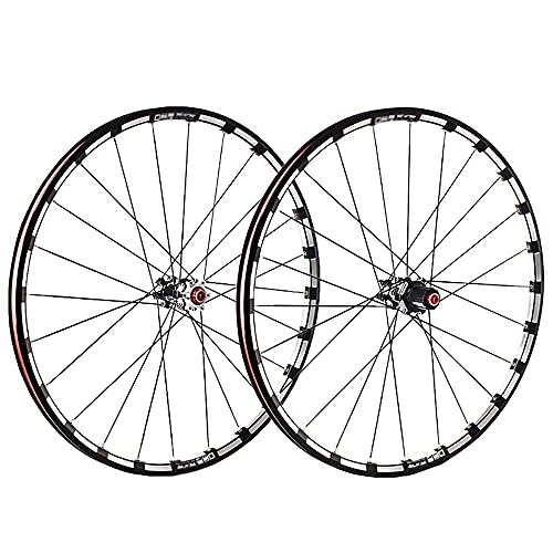 NAINAIWANG MTB Bicycle Wheelset 26/27.5/29 in Mountain Bike Wheel Set Double Layer Alloy Rim Sealed Bearing 7-11 Speed The First 2 and The Last 5 Bearings Cassette Hub Disc Brake 24H