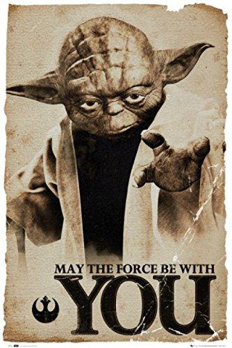 1art1 66114 Star Wars Poster - Yoda, Möge die Macht mit Dir Sein, 91 x 61 cm