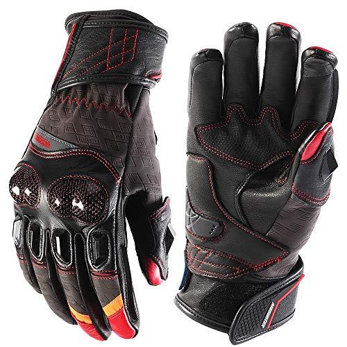 WERNG winter-motorhandschoenen van leer, met touchscreen, winddicht en hittebestendig, voor motorfiets/fiets/elektrische auto