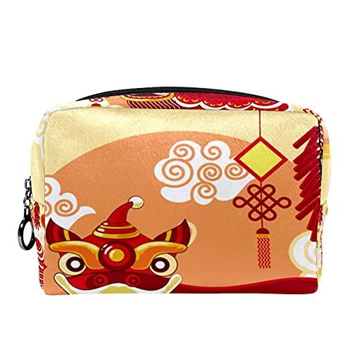 Bolso de bolsillo cosmético de viaje con bandera canadiense de 18,5 x 7,5 x 13 cm (largo x ancho x alto)