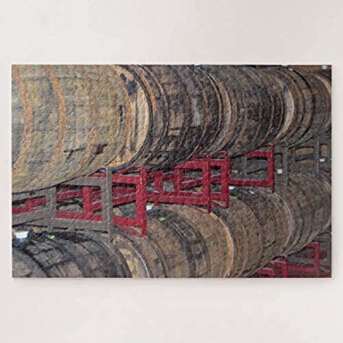 Barriles de vino Bodega Vacaciones Viajes Fotografía 500 piezas rompecabezas creativo desafiante Jigsaws Juguetes educativos para niñas para usar funciones cerebrales enteras