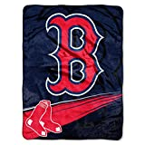 Officially Licensed MLB Boston Red Sox 'Speed' Plush Raschel Throw Blanket, 60' x 80', Multi Color