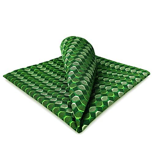 S&W SHLAX&WING Pañuelos de Bolsillo Para Hombre Verde Esmeralda A cuadros