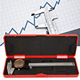 𝐂𝐡𝐫𝐢𝐬𝐭𝐦𝐚𝐬 𝐆𝐢𝐟𝐭 Calibro a corsoio quadrante, calibro a corsoio a doppio senso, calibro a corsoio, micrometro, verniero quadrante accurato con calibro 0~150 mm 0,01 mm