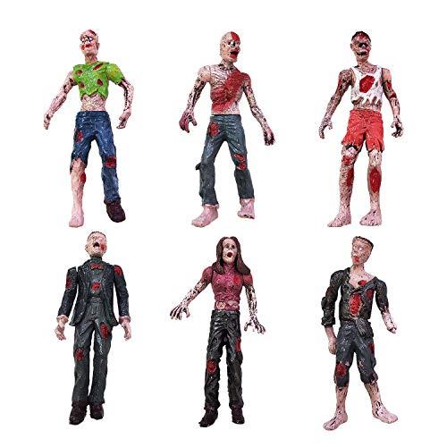 YIJIAOYUN Set von 6 Zombie Toys Actionfiguren Spielzeug Terror