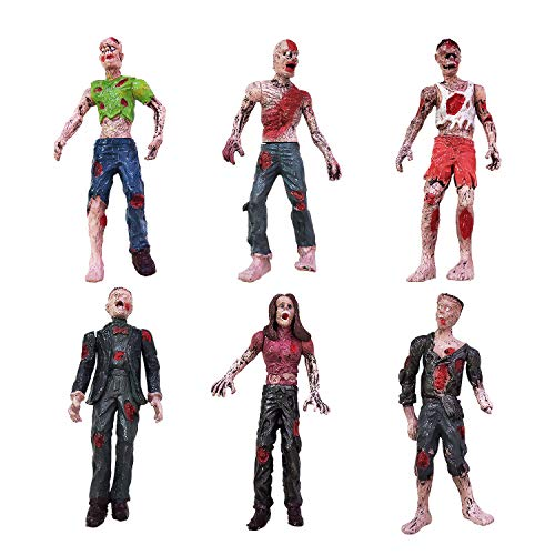 HAPTIME Zombie Action Figures, Terror Zombie Toys 3.75 inch, Detailed Walking Dead Corpse, Dolls Suitable for Decorating Rooms, Desk, Bookshelf, Cake Topper, As Gifts for Zombie Lovers to Collect