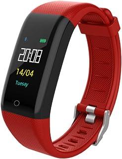 Pulsera inteligente T10 Pulsera Fitness Tracker Monitor de ritmo cardíaco Ip68 Impermeable paso a paso Multi-modo Sport Ring Rojo