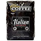 Fresh Roasted Coffee LLC, Italian Roast Espresso Coffee, Artisan Blend, Dark Roast, Bold Body, Whole Bean, 5 Pound Bag
