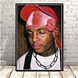 KWzEQ Rapero Hip Hop música Cantante Estrella Cartel Arte Pintura Pared Imagen para decoración del hogar50X70cmPintura sin Marco