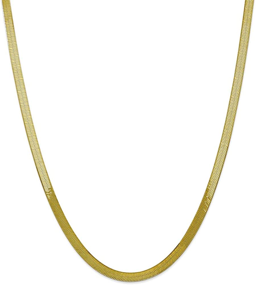 Chain Necklace 10K Yellow Gold Herringbone 24 in 5 mm 5.0mm Silky