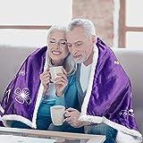 BLANKIEBLISS Grandma Throw Blanket (Purple, Sherpa Fleece) - Grandma Blanket - Birthday Gifts for Grandma - Personalized Blankets and Throws - Grandma Gifts - Nana Blanket