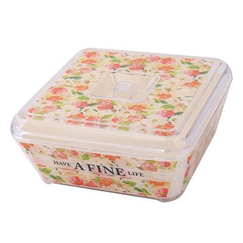DealMux plástico de la Cocina del Restaurante Plaza Tapa alimento de la Fruta refrescante Tazón contenedor de Almacenamiento Caja Tricolor