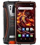 Rugged Smartphone Blackview BV6900, IP68 Waterproof SIM Free Mobile Phone, 16MP Quad Rear Camera, 4GB+64GB, 5580mAh Battery, Wireless Charge, 5.84'' FHD+ Waterdrop Screen Gorilla Glass 5, NFC Orange