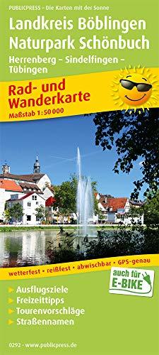 Landkreis Böblingen - Naturpark Schönbuch, Herrenberg - Sindelfingen - Tübingen: Rad- und Wanderkarte mit Ausflugszielen, Einkehr- & Freizeittipps, ... 1:50000 (Rad- und Wanderkarte: RuWK)
